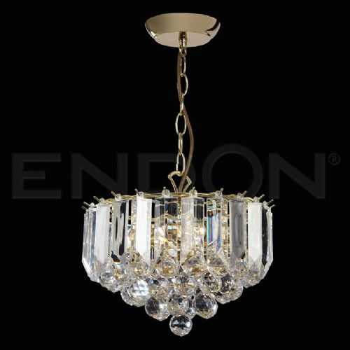 "3 X 60W BRASS ACRYLIC PENDANT 12"" DIAMETER (updated version of T-599-12) FARGO-12BP"
